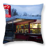 Gene's Drive In Throw Pillow