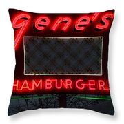 Gene's Hamburgers  Throw Pillow