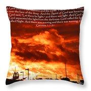 Genesis 1-1-31 Throw Pillow