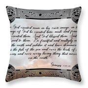 Genesis 1 27-28 Throw Pillow
