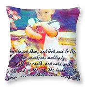 Genesis 1 28 Throw Pillow