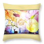 Genesis Collage Throw Pillow