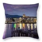 Geneva By Night  Throw Pillow