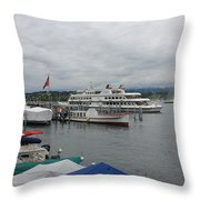 Geneva Lake Throw Pillow