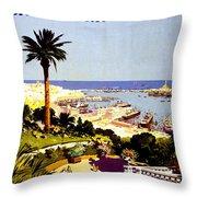 Genoa, Italian Riviera, Coast Throw Pillow