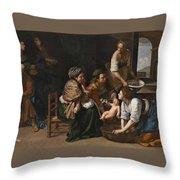 Genoese School Throw Pillow