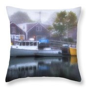 Genos In The Fog Throw Pillow