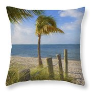 Gentle Breeze At The Beach Throw Pillow