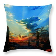 Gentle Days Of Simple Ways Throw Pillow