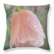 Gentle Flower Bow Throw Pillow