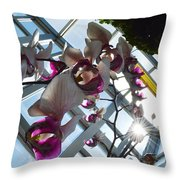Gentle Giant Orchid Throw Pillow