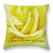 Gentle Gold Quote Throw Pillow