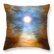 Gentle Mantra Om Light Glowing Into The Sea Throw Pillow