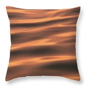 Gentle Morning Waves Throw Pillow