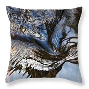 Gentle Rapids Ripple Swirl In River-5 Throw Pillow