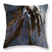 Gentle River Ripple Swirl Vertical Throw Pillow