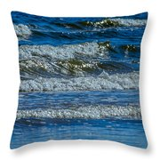 Gentle Roll Of The Waves Throw Pillow