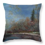 Gentle Stream - Lmj Throw Pillow