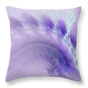 Gentle Wave Of Purple Throw Pillow