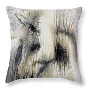 Gentle White Horse Throw Pillow