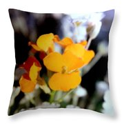 Gentle Yellow And White Throw Pillow