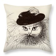 Gentleman  Throw Pillow