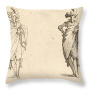 Gentleman Viewed From The Front With Hand On Hip Throw Pillow
