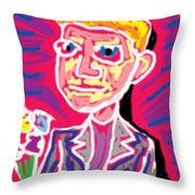 Gentleman W Floweres Throw Pillow