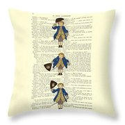 Gentlemen Taking A Bow Dressed As Napoleon Bonaparte Throw Pillow