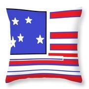 Geo Flag Throw Pillow