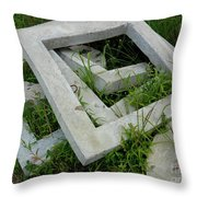 Geo In The Grass Throw Pillow