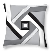 Geoblock23bnw Throw Pillow
