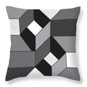 Geoblock52bnw Throw Pillow