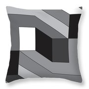Geoblock55bnw Throw Pillow