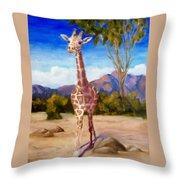 Geoffrey Giraffe Throw Pillow