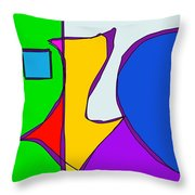 Geographical Summer Throw Pillow