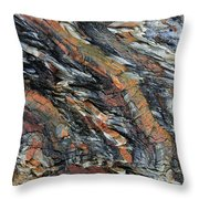 Geologica II Throw Pillow by Julian Perry