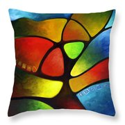 Geometree Throw Pillow