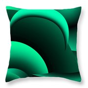 Geometric Abstract In Green Throw Pillow