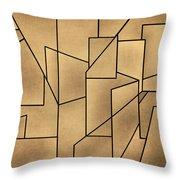 Geometric Abstraction IIi Toned Throw Pillow by David Gordon