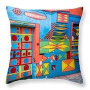 Geometric Art In Burano Throw Pillow