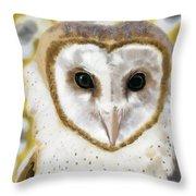 Geometric Barn Owl Throw Pillow