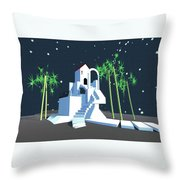 Geometric Building Throw Pillow