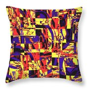 Geometric Confusion 1 Throw Pillow