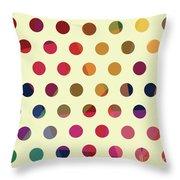Geometric Dots Throw Pillow