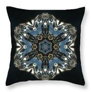 Geometric Glass Reflection Throw Pillow