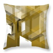 Geometric Gold Composition Throw Pillow
