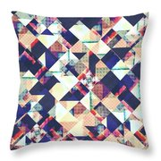 Geometric Grunge Pattern Throw Pillow