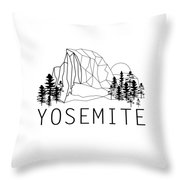 Geometric Half D Throw Pillow