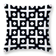 Geometric In Black And White Throw Pillow